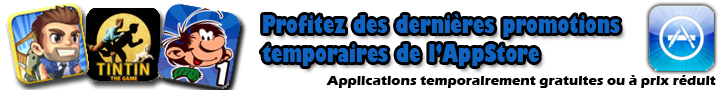 Promos/Réduc temporaires Applis iPhone/iPad/iPod